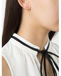 Anita Ko - Metallic Two-stone Rectangle Earrings - Lyst