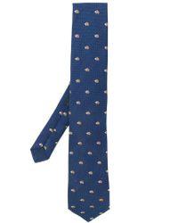 Etro - Blue Hedgehog Tie for Men - Lyst