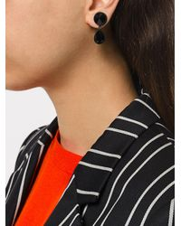 DSquared² - Black Crystal Pierce Magnetic Earrings - Lyst