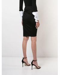 Paule Ka - Black Draped Skirt - Lyst