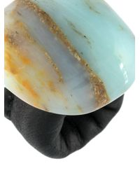 Monies - Blue Maxi Stone Ring - Lyst