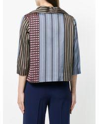 Marni - Blue Combined Print Blazer - Lyst