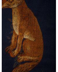 Oscar de la Renta - Blue Flora Fauna Printed Scarf - Lyst