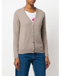 N.Peal Cashmere - Brown V-neck Cardigan - Lyst