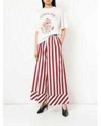 G.v.g.v - Red Striped Drawstring Wide Leg Trousers - Lyst