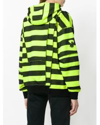 McQ Alexander McQueen - Yellow Striped Deconstructed Panel Hoodie - Lyst