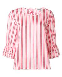 Essentiel Antwerp - Red Striped Blouse - Lyst