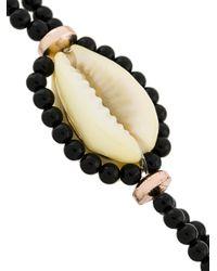 Isabel Marant - Black Shell And Bead Bracelet - Lyst