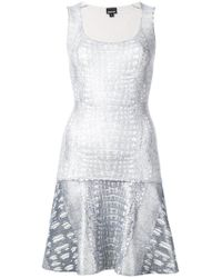 Just Cavalli - Metallic Croco Embossed Dress - Lyst