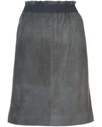 Fabiana Filippi - Gray Elasticated Waist Skirt - Lyst