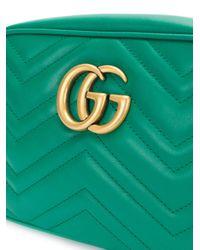 Gucci - Green Gg Marmont Cross-body Bag - Lyst