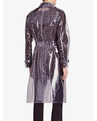 Burberry - Metallic Transparent Trench Coat - Lyst