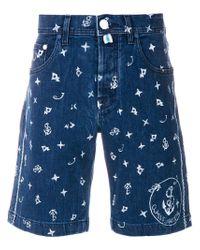 Jacob Cohen - Men's Blue Cotton Shorts for Men - Lyst