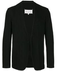 Maison Margiela - Black Open Front Cardigan Jacket for Men - Lyst