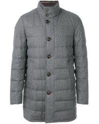 Moncler - Gray Vallier Coat for Men - Lyst