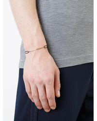 530Park - Metallic Curb Chain Cord Bracelet for Men - Lyst