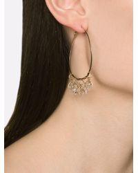 Melissa Joy Manning - Metallic Herkimer Diamond Hoop Earrings - Lyst