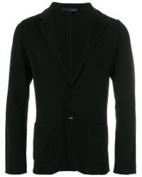 Lardini - Black Jersey Blazer for Men - Lyst