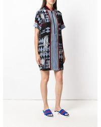 Versace Jeans Black Colour-block Shift Dress