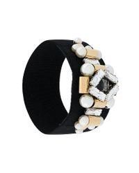 Rada' - Black Embellished Bracelet - Lyst