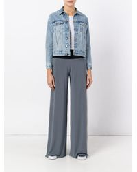 Norma Kamali - Blue Tri-color Palazzo Pants - Lyst