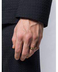 Alexander McQueen - Metallic Ring mit Totenkopfmotiv for Men - Lyst