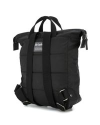 Ally Capellino - Black Buckle Front Backpack for Men - Lyst