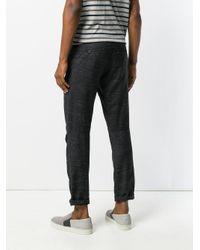 Lanvin Black Straight Leg Marl Trousers for men