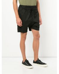 Bassike - Black Drawstring Fitted Shorts for Men - Lyst