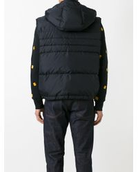 AMI - Black Sleeveless Down Jacket for Men - Lyst
