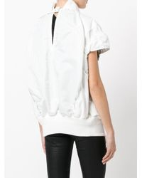 Sacai - White Cap Sleeved Jacket - Lyst