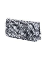 Miu Miu - Black - Gingham Print Shoulder Bag - Women - Cotton/metal/glass - One Size - Lyst