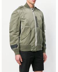 Sacai - Green Patched Utility Bomber Jacket for Men - Lyst