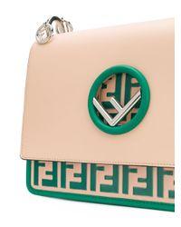 Fendi - Multicolor Foldover Flap Branded Handbag - Lyst