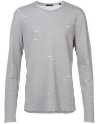 ATM - Gray Speckled Print T-shirt for Men - Lyst