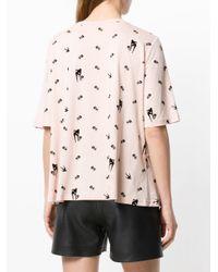 McQ Alexander McQueen - Pink Ruffle Trim Ok T-shirt - Lyst
