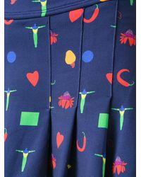 Isolda - Blue Print Pleated Skirt - Lyst