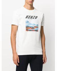 KENZO - White Branded T-shirt for Men - Lyst