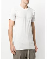 Rick Owens - White Round Neck T-shirt for Men - Lyst