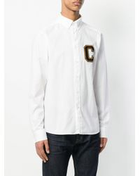 Calvin Klein Jeans - White Varsity Patch Shirt for Men - Lyst