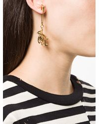 Ambush - Metallic Teddy Bear Charm Earring - Lyst