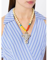 Rada' - Metallic Oversized Pendant Necklace - Lyst
