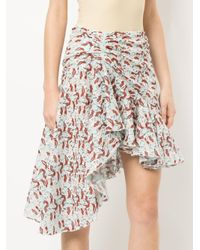 Giambattista Valli - Blue Asymmetrical Skirt - Lyst
