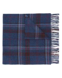 Polo Ralph Lauren - Blue Checked Scarf for Men - Lyst