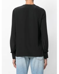 Tory Burch - Black Frill Detailed Blouse - Lyst