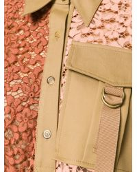Erika Cavallini Semi Couture | Orange Patchwork Shirt Dress | Lyst