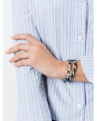 Ferragamo - Multicolor Braided Bracelet - Lyst