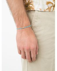 Luis Morais - Blue Perfect Circle Barrel Beaded Bracelet for Men - Lyst