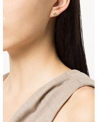 Sydney Evan - Metallic Apple Stud Earring - Lyst