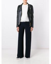 Norma Kamali - Blue - High Waisted Palazzo Pants - Women - Polyester/spandex/elastane - S - Lyst